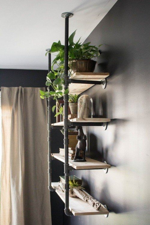 Diy Open Pipe Shelving Magnolia