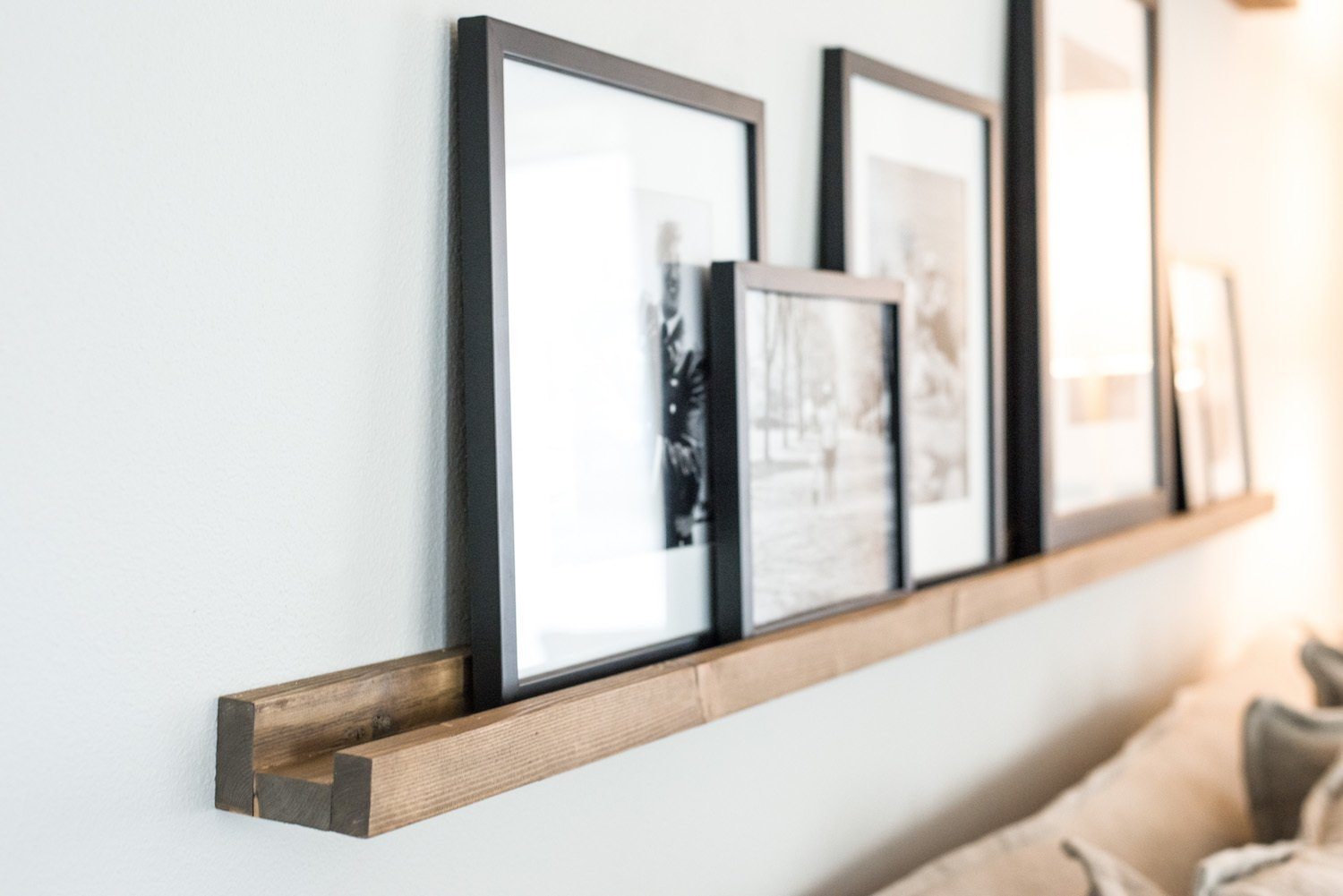 Easy Photo Ledge DIY