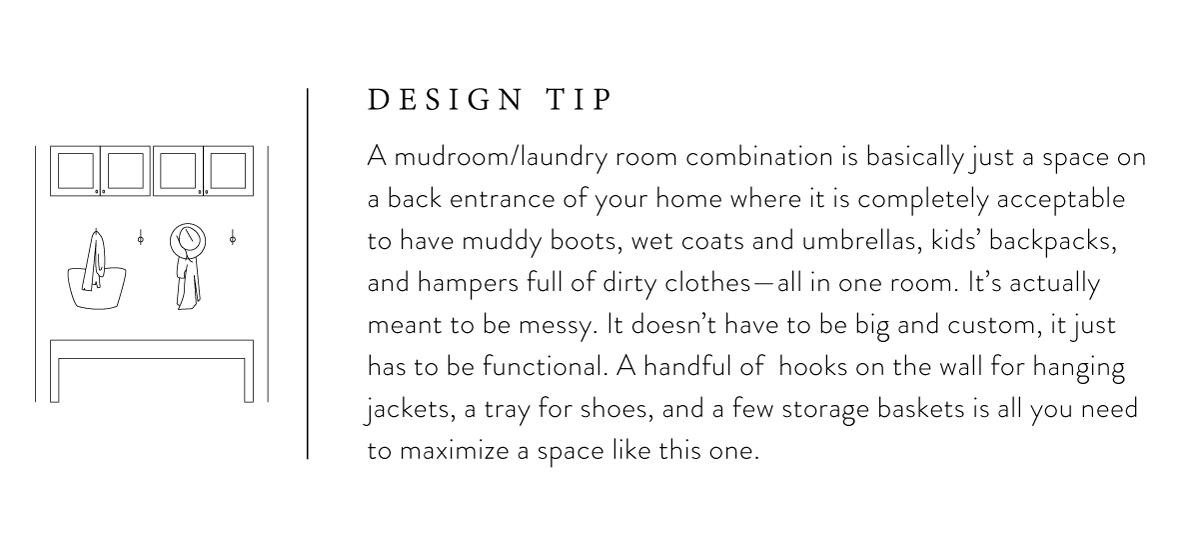Mudroom design tip from Joanna Gaines