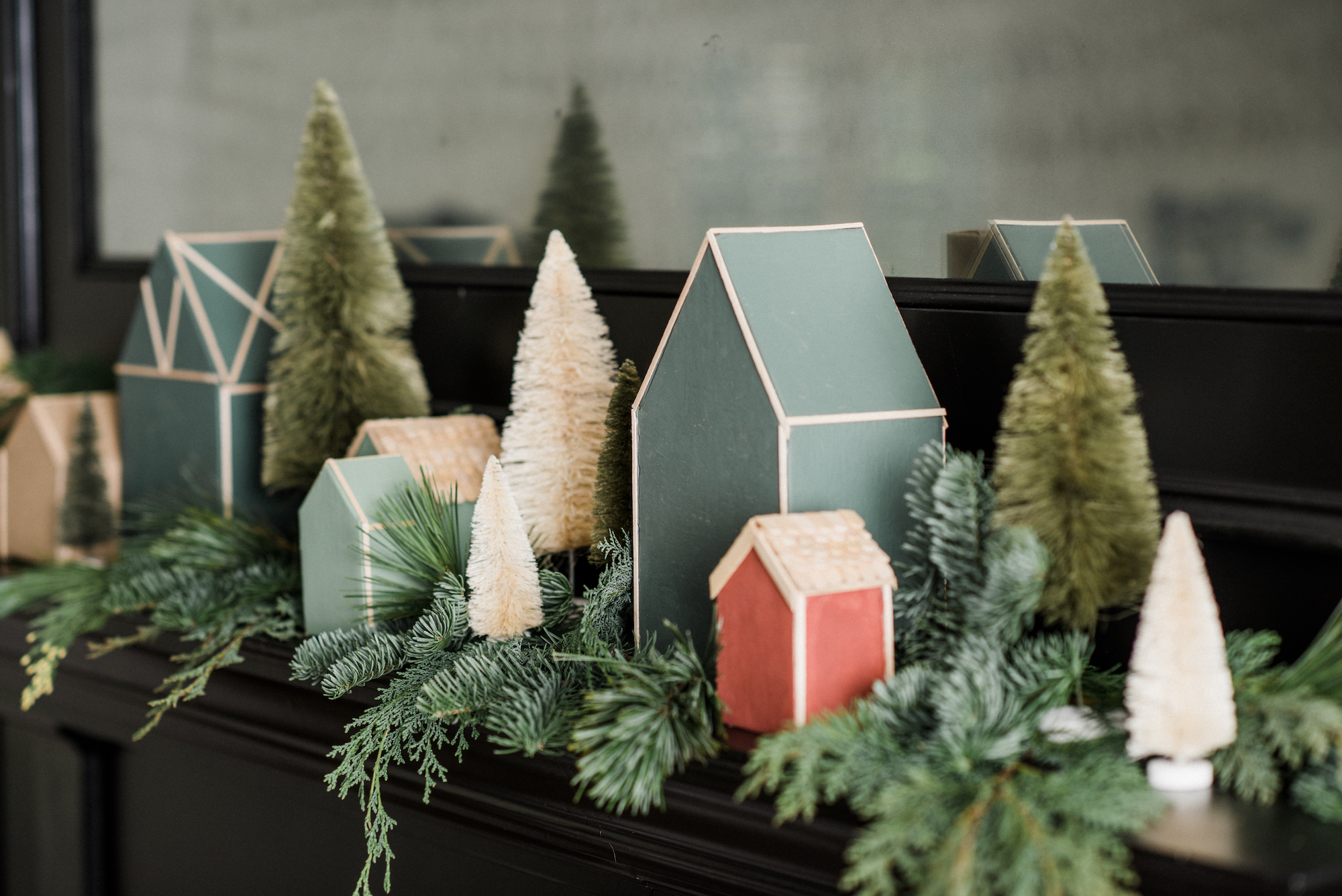 ... attached to a little Christmas village like this one. We love the way these handmade houses, inspired by our holiday visual display at the market, make ...